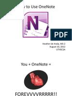 OneNote Presentation