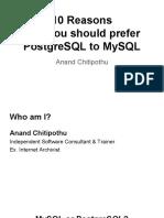 Why you should prefer PostgreSQL