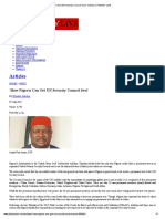 How Nigeria Can Get UN Security Council Seat', Articles _ THISDAY LIVE