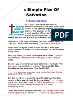 God's Simple Plan of Salvation by Pastor Ford Porter
