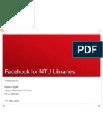 Facebook in NTU Libraries(010609)