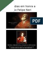 Sete Dias Em Honra a São Felipe Neri