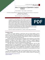 Ozone Determination a Comparison of Quantitative Analysis Methods