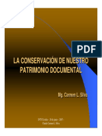 LA CONSERVACIÓN DE NUESTRO PATRIMONIO DOCUMENTAL