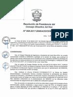 REsolución N°099-2017-SINEACE-CDAH-P