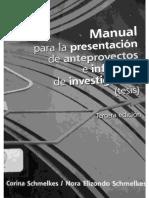 Manual para la presentacion de proyectos de investigacion