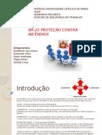Proteção Contra Incendios - 2012