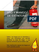 Extintores Uso y Manejo de Extintores