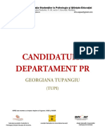Georgiana Tupangiu - Candidatura PR