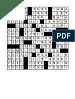 Pi Day Crossword 15 x 15