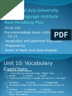 Pre-intermediate+ELCA+102+-+Units+10-11-12-13+Voc+and+Gram+-+Azza