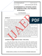 ANALYSIS AND EXPERIMENTAL INVESTIGATIONS OF WELD CHARACTERISTICS FOR A TIG WELDING WITH SS 304 L.pdf
