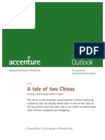 Accenture Outlook a Tale of Two Chin as May 2009
