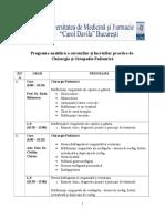 Programa Cursurilor Și Lucrărilor Practice