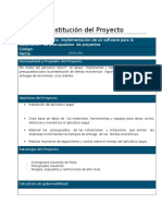 Acta de Constitucion Del Proyecto Plantilla