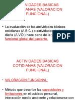 Actividades Basicas Cotidianas (Valoracion Funcional)