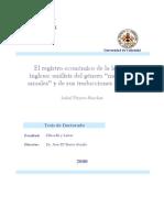 El Registro Economico de La Lengua Inglesa Analisis Del Genero Memorias Anuales y de Sus Traducciones Al Ingles 0