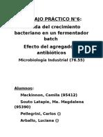 Trabajo Práctico 6 (Microbiología)