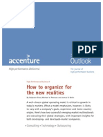 How to Organize for the New Realities