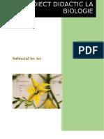 Proiect Didactic Polenizarea