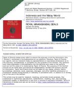 Royal Minangkabau Seals Disseminating Au