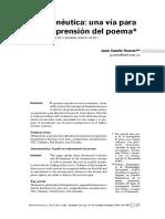 Hermeneutica Una via Para La Comprension Del Poema