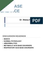 Acid Base Balance Dr Wala