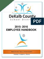 DeKalb 2015-16 Employee Handbook