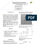 Informe II Transistor