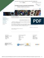 Ampliación Comunicados Prensa - Posición Del Gobierno Uruguayo Sobre Traspaso de PPT Del MERCOSUR
