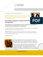 Supply Chain Risk Mgt Capability