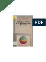 Jean Baudrillard. Para Uma Crítica Da Economia Política Do Signo