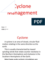 Cyclone management