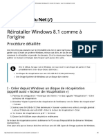Réinstaller Windows 8