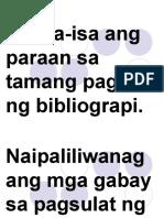 Pagbuo Ng Bibliograpi