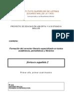Cuadernillo de Sintaxis I