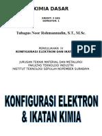 3. Konfigurasi Elektron Dan Ikatan Kimia