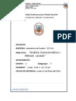 Análisis Granulométrico - Metodo Lavado UAJMS
