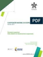 Clasificación Nacional de Ocupaciones 2015 en Colombia CNO2015