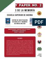 Precisiones conceptuales sobre Memoria e Historia