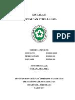 Cover, Dasi Hukum Dan Etika Lansia