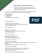 Learn Massage (Pindot Sarap) in Ten (10) Easy Steps