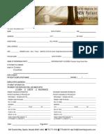 c-h inc new patient information form