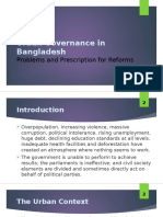 Urban Governance in Bangladesh - Politics, Service Delivery and Prescriptions for Reform