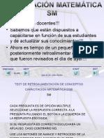 Capacitacion Matematica Test