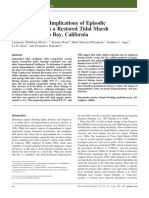 2011 Implications of Episodic Impoundment in Tidal Marsh