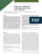 2011 Implications of Episodic Impoundment in Tidal Marsh