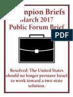 Public FOrum Debate MArch 2017 Champions Brief