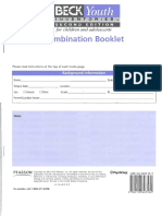 beck youth inventories - combination test booklet