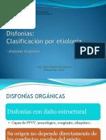 Clasificación de Disfonías II TDV 2016